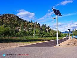 Solar Power Street Light by Solar Panel Street Lights Ember Led Ember Led Exterior Led