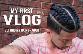 hair braided on the top but cut close on the side first vlog getting my hair braided samurai top knot man bun