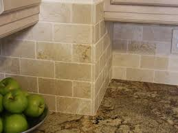 Limestone Backsplash Kitchen Interior Travertine Tile Backsplash Interiors