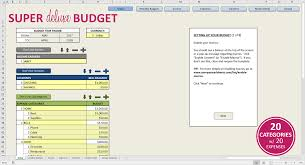 Create A Budget Worksheet Premium Excel Budget Template Savvy Spreadsheets