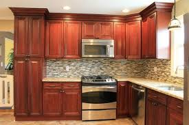 Tile Backsplash Ideas For Cherry Wood Cabinets Home by Spectacular Kitchen Backsplash Tile Cherry Cabinets M41 In Home