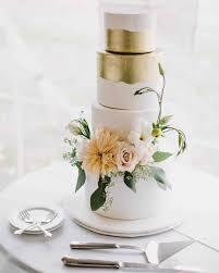 metallic wedding cakes that make a shimmering statement martha