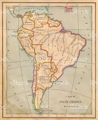 Maps Of South America by Old Color Map Of South America From 1800s Stock Photo 471386671