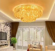 lumiere pour chambre or ronde le plafond le moderne simple salon cristal le villa