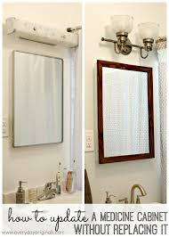 Easy Bathroom Updates by How To Update A Medicine Cabinet Without Replacing It Tired Of
