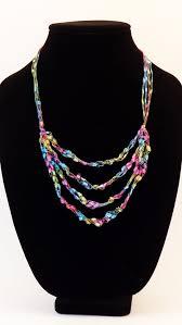 ladder ribbon crochet necklace ladder ribbon necklace by bareneckboutique 8 00