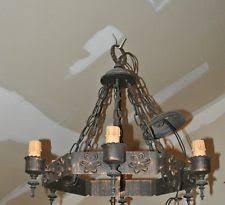 Vintage Wrought Iron Chandeliers Iron Antique Chandeliers Fixtures U0026 Sconces Ebay