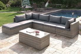 Outdoor Furniture Sectional Sofa 412 Outdoor Patio 7pc Sectional Sofa Set By Poundex W Options