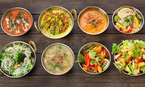 de cuisine indienne vegan et plats épicés chauds de cuisine indienne végétarienne