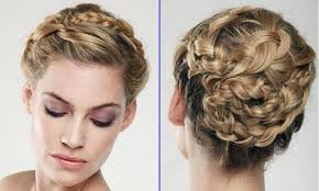 fresh brown updo long quinceanera hairstyles with curls
