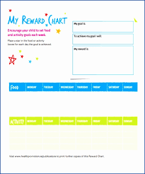 6 reward chart template best templates