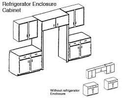 cabinet enclosure for refrigerator hardwood kitchen cabinets custom built evansville indiana amish