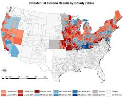 Election Of 1860 Map by Map 1860 Votes For Secession By County American Civil War Forums