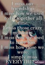 I Used To Be All - i miss our friendship i miss how we used to be together all time i