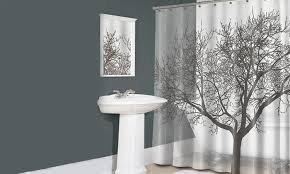Shower Curtain With Tree Design Tree Design Shower Curtain Groupon