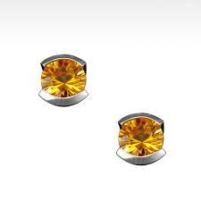 citrine earrings black dress semi bezel citrine earrings in argentium