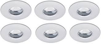 led einbauleuchten für badezimmer led badezimmer einbauleuchten set 6x5w ip65 bad einbaustrahler