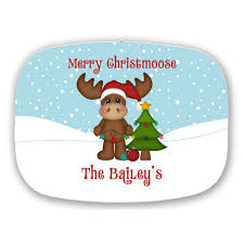 personalized christmas platter christmas moose personalized christmas platter christmas