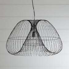 Wire Pendant Light Cosmo Pendant Light In Pendant Lighting Reviews Crate And Barrel