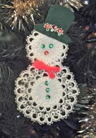 tatsy tatted pattern snowman