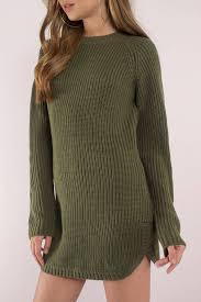 green sweater black dress dolphin hem dress sleeve dress 32