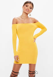 yellow dress yellow dresses mustard chartreuse dresses missguided