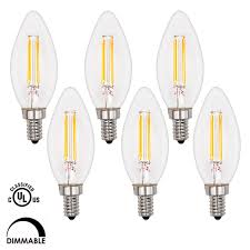 supmart 4w filament led candelabra bulb dimmable 2700k warm white