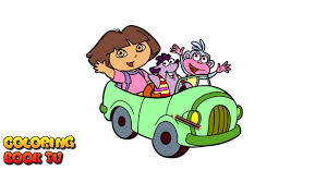 dora the explorer boots tiko coloring pages for kids youtube