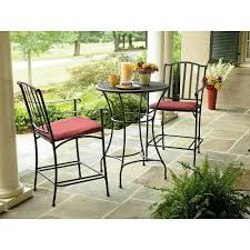 Patio Chairs With Cushions Amazon Com Wrought Iron 3 Pc Bistro Set Table And Two Chairs