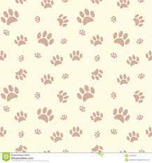 dog paw print and bone background