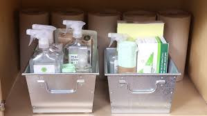 Bathroom Sink Organizer Ideas Video Maximize Under Sink Storage Martha Stewart