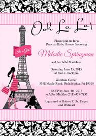 parisian baby shower poodles and baby shower invitation
