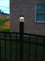 Solar Lights Fence - diy fence post lights 3 solar lights from target fit perfectly