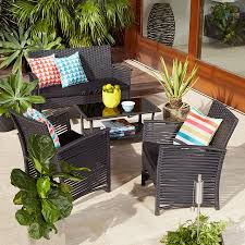 Black Wicker Patio Furniture - findingwinter com page 5 simple front porch with screen porch
