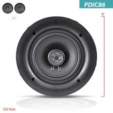 are in wall speakers good for home theater amazon com pyle ceiling speakers stereo home theater speakers