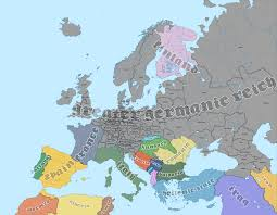 germany europe map map of europe in 1965 if germany won world war two by