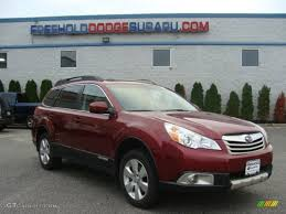 red subaru outback 2011 ruby red pearl subaru outback 3 6r limited wagon 98502955
