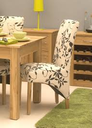 Floral Dining Room Chairs Dining Room Minimalist Light Brown Fabrics Contemporary Dining