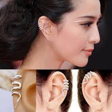 ear cuff images silver snake ear cuffs 2 cuffs no piercing lilyfair jewelry