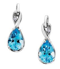 blue topaz earrings blue topaz earrings burns jewellers ltd