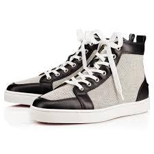 louis spikes men u0027s flat white white leather men shoes