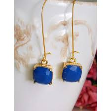royal blue earrings royal blue and gold senesister dangle earrings nicki jewelry