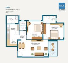 2 Bhk Floor Plans 2 Bhk Apartments For Sale In Nizampura Vadodara Alembic Veda