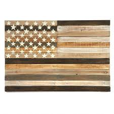 slatted wood american flag wall tree shops andthat