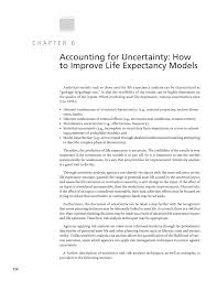 chapter 6 accounting for uncertainty how to improve life
