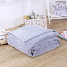 high quality sofa plaid flannel coral fleece blanket solid plain