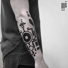 blackwork geometric forearm sleeve best ideas gallery