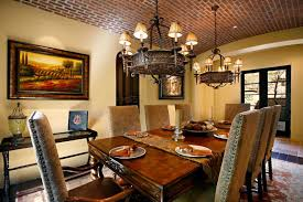 dining room spanish home interior decorating modern dining room