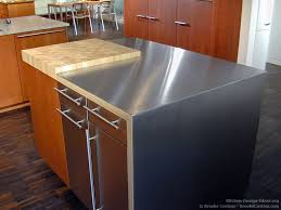 white kitchen island with stainless steel top stainless top kitchen island