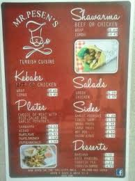 pese cuisine mr pesens menu prices picture of mr pesen s cuisine